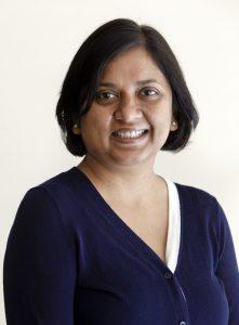 Portrait of Preeti Bais against a white background.