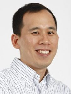 Formal portrait of Jeffrey (Jeff) Chuang of The Jackson Laboratory for Genomic Medicine (JAX GM), located in Farmington, Connecticut (CT), against a white background.